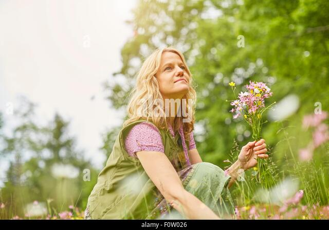 Picking Wild Flowers Stock Photos & Picking Wild Flowers Stock ...