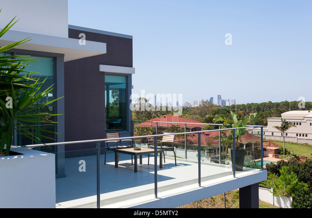 Large balcony city stock photos large balcony city stock for Balcony overlooking city