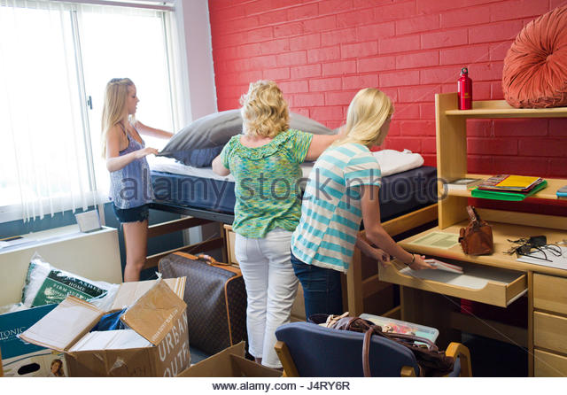 Family Helping Eldest Daughter Move Into Her Dorm Room At Fluor Tower,  University Of Southern Part 13