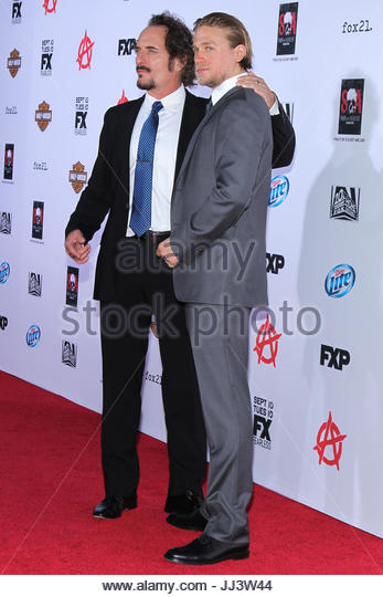 Kim Coates and Charlie Hunnam. File images - Actor Charlie Hunnam has been cast as the lead actor in 'Fifty - Stock Image