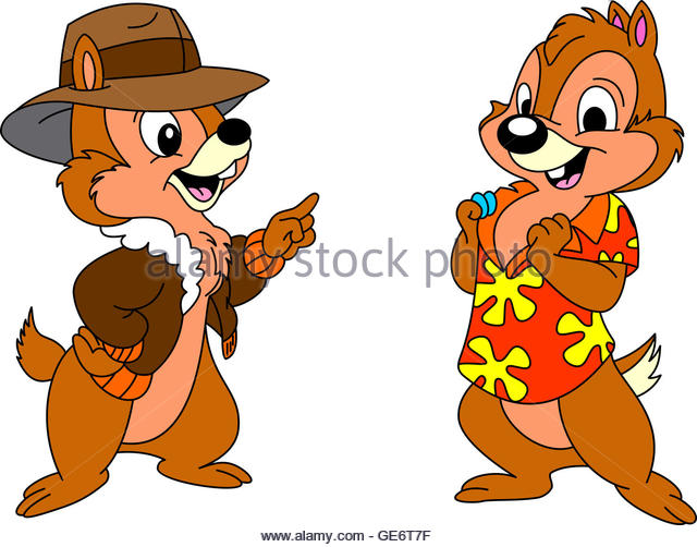 Chip N Dale Cartoon Characters : Chip dale stock photos images alamy