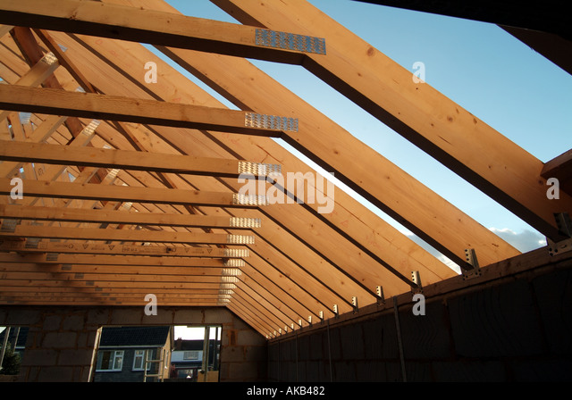 Prefabricated Roof Truss Stock Photos Prefabricated Roof
