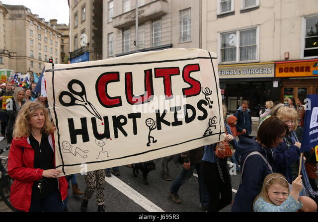 Bristol, UK. 20th May 2017.  Parents, children and school staff rallied in Bristol to protest the Department forEducation's - Stock Image