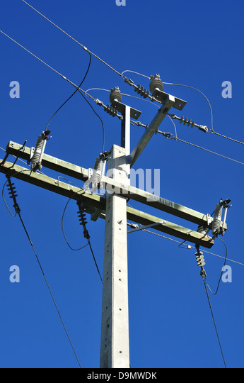 Concrete Electric Poles : Electrical grid stock photos
