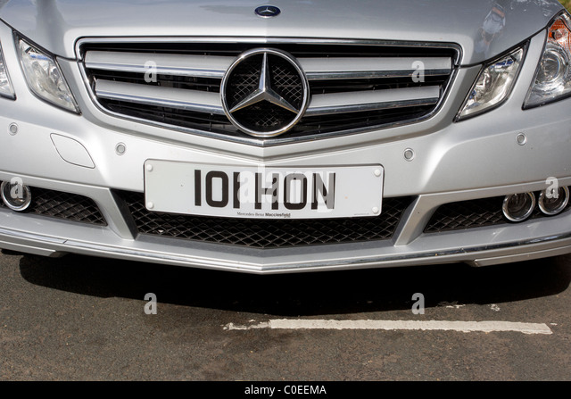 Mercedes benz number plate stock photos mercedes benz for Mercedes benz number