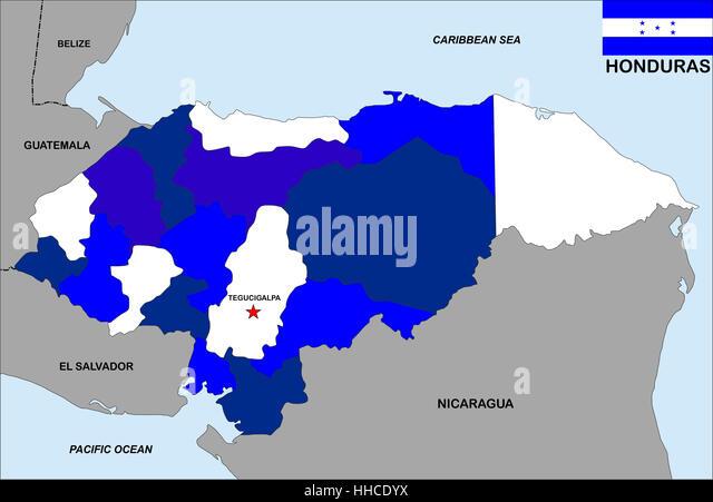 Country Honduras Stock Photos Country Honduras Stock Images Alamy - Honduras country political map