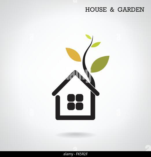 Green energy home concept ,house and garden symbol. Vector ...