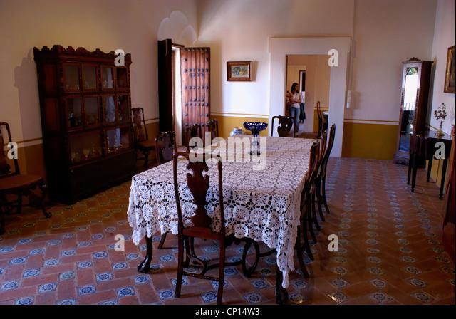 spanish colonial era dining room museo casa del afenique puebla mexico