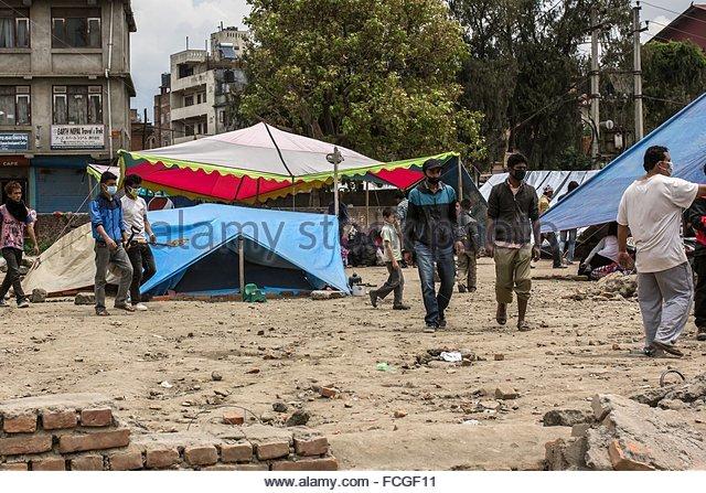 KATHMANDU AFTER THE EARTHQUAKE NEPAL ASIA - Stock Image & Nepal Tent Kathmandu Stock Photos u0026 Nepal Tent Kathmandu Stock ...