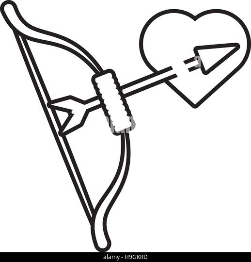 Bow Arrow Heart Stock Photos & Bow Arrow Heart Stock ...