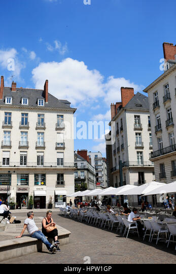 nantes town centre stock photos nantes town centre stock images alamy. Black Bedroom Furniture Sets. Home Design Ideas