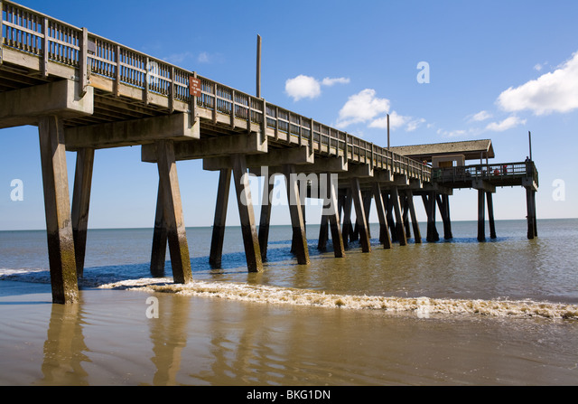 Tybee stock photos tybee stock images alamy for Tybee island fishing pier