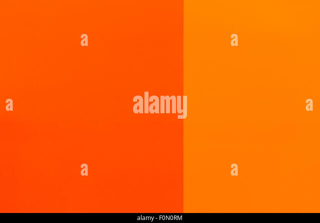 Different Shades Of Orange Paint walls painted two different colors stock photos & walls painted