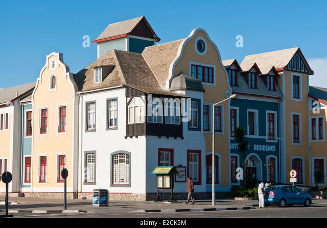 german architecture namibia swakopmund stock photos & german