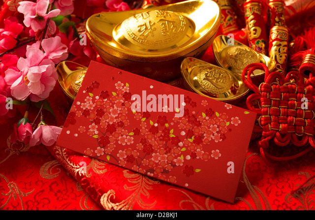 Gold symbol pow stock photos gold symbol pow stock for Ang pow decoration