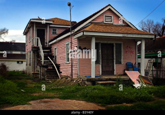 Ninth Ward New Orleans Hurricane Katrina Stock Photos