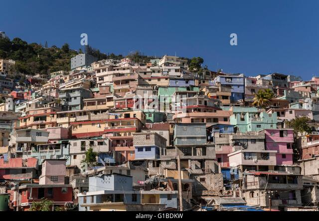 House haiti stock photos house haiti stock images alamy for Canape vert port au prince haiti