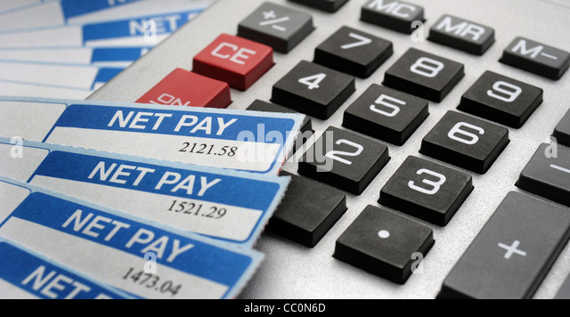 Payslip Pay Slip Wage Packet Stock Photos & Payslip Pay Slip Wage