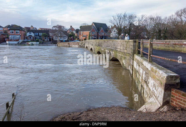 Iford Bridge Home Park Christchurch And Flood Levels Of The River Stour Dorset