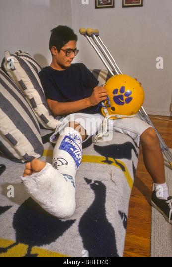 Injury Injured Cast Crutch Player Athlete Beaten Up Beaten Hit