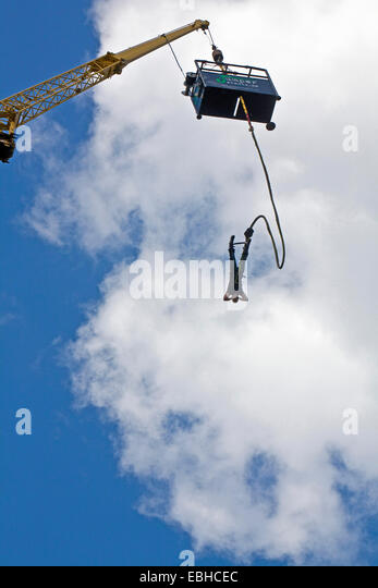 bungee jumping stock photos bungee jumping stock images alamy. Black Bedroom Furniture Sets. Home Design Ideas