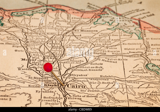 Nile River Map Stock Photos Nile River Map Stock Images Alamy - Map of egypt showing nile river