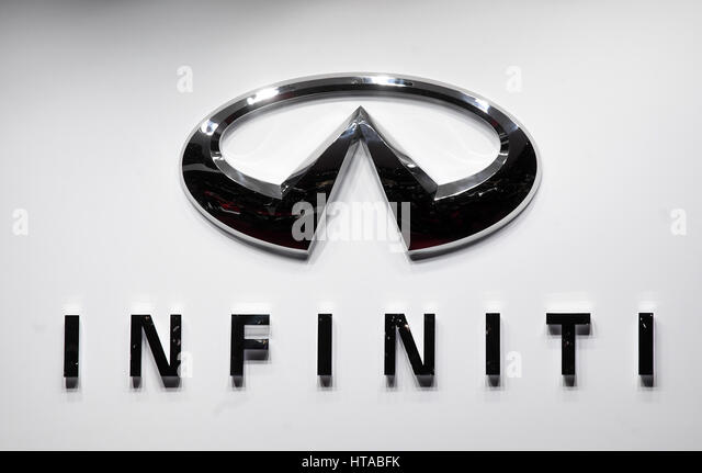 infiniti logo black. geneva switzerland 7th mar 2017 an infiniti logo photographed during the black