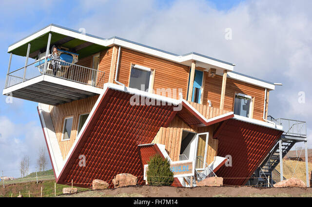 The Upside Down House upside down house germany stock photos & upside down house germany