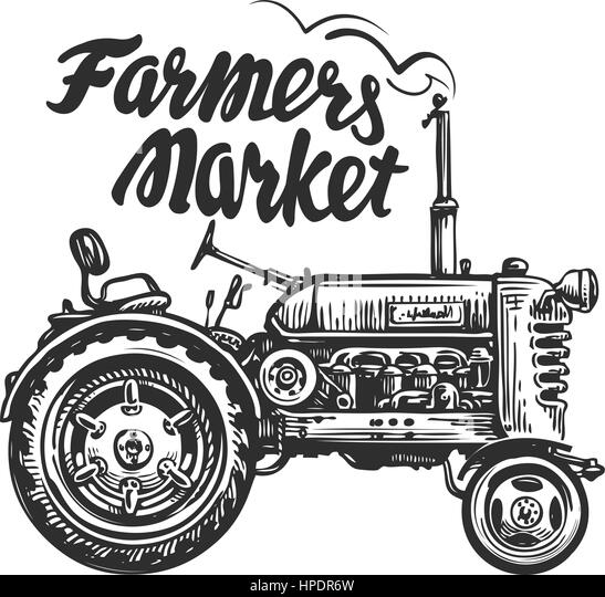 Vintage Tractor Cartoon : Agricultural stock vector images alamy