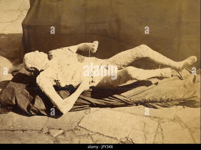 Human print, Pompeii, Italy - Stock Image