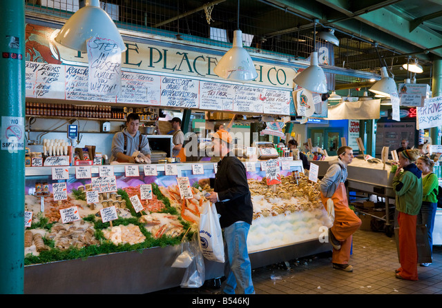 Pike place market seattle stock photos pike place market for Pikes market fish