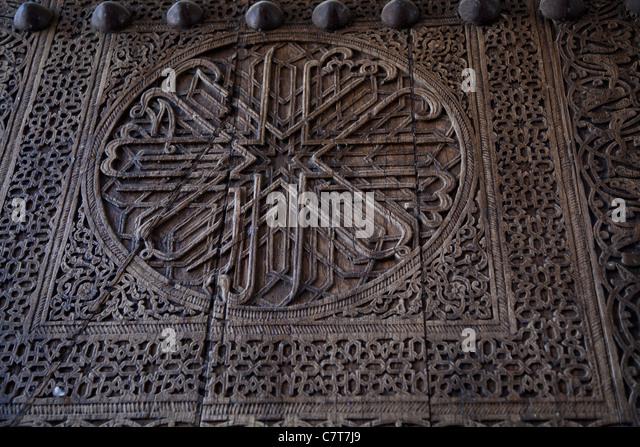 Uzbekistan an ancient wooden door decorated - Stock Image & Architecture East Oriental Islam Door Stock Photos u0026 Architecture ... pezcame.com