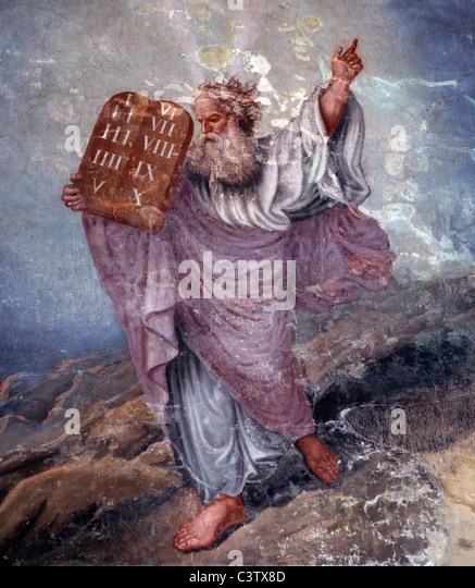 Ten Commandments Moses Stock Photos & Ten Commandments Moses Stock ...