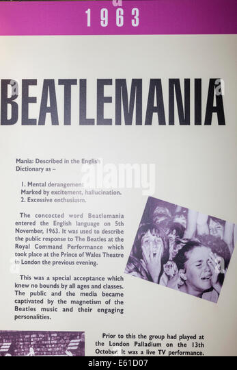 a history of the beatles and beatlemania in england Read our brief feature on the history of liverpool's a brief history of the beatles beatlemania in 1963, a sharp-suited beatles would record their first.