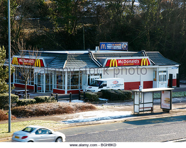 Mcdonalds drive thru window empty