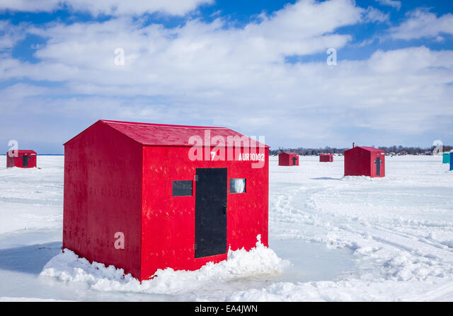 Ice Fishing Shack Stock Photos Ice Fishing Shack Stock