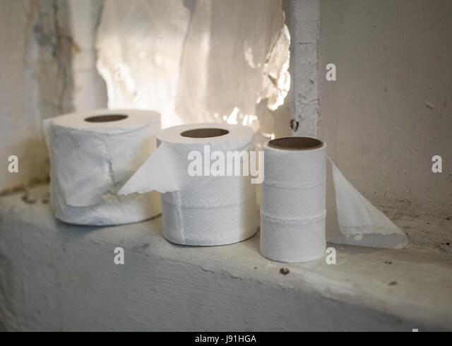 Toilet Rolls In Messy Bathroom