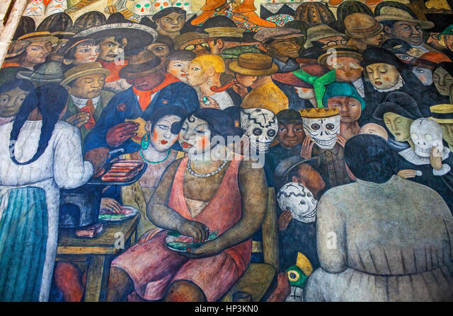 American heritage center and art museum stock photos for Diego rivera day of the dead mural