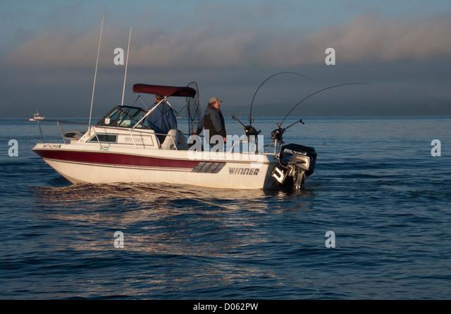 Chinook salmon fishing stock photos chinook salmon for Salmon fishing washington