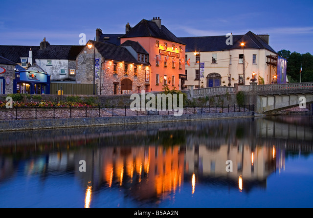 Johns Quay and River Nore, Kilkenny City, County Kilkenny, Leinster