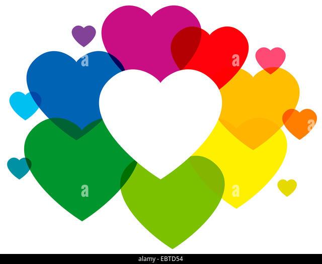 Rainbow Hearts Stock Photos & Rainbow Hearts Stock Images - Alamy