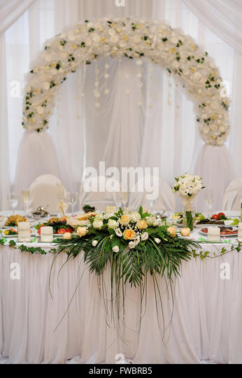 Wedding Table Bride And Groom   Stock Image