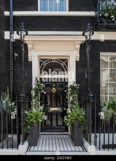 Door to Georgian house in Mayfair London - Stock Image & Imposing Entrance Door Stock Photos u0026 Imposing Entrance Door Stock ... pezcame.com