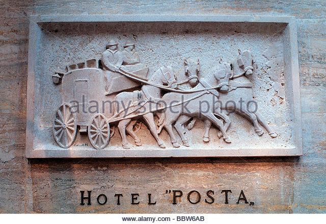 europe italy tuscany bagno vignoni hotel posta stock image