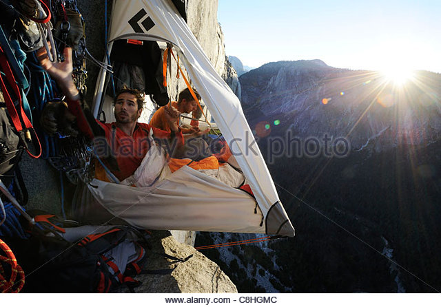 Climbers live in a portaledge when working on a route. - Stock Image  sc 1 st  Alamy & Portaledge Stock Photos u0026 Portaledge Stock Images - Alamy