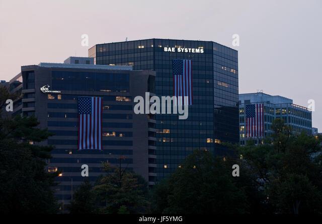 BAE Systems headquarters building - Arlington, Virginia USA - Stock Image