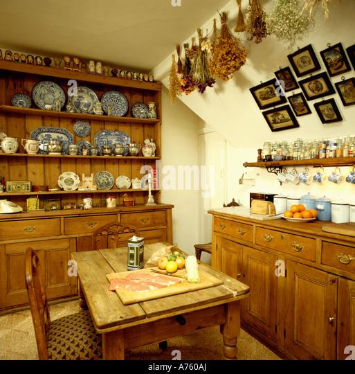 Interiors Diningroom Dresser Flowers Stock Photos & Interiors ...