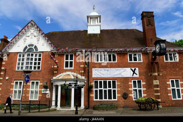 Facade of Farnham Town Council building, Farnham, Surrey, UK. - Stock Image