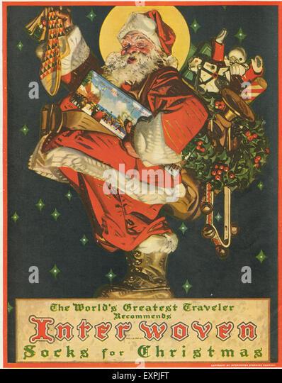 1920s Usa Christmas Magazine Advert Stock Photos & 1920s Usa ...