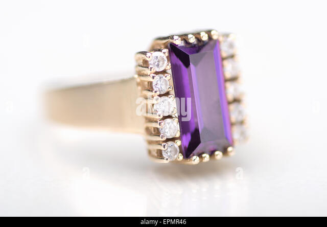Ring With Amethyst Stock s & Ring With Amethyst Stock